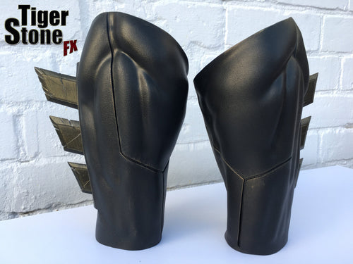 Weathered / aged Batman v Superman Dawn Of Justice inspired Gauntlets