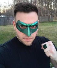 Green, red, blue, white etc Lantern Hal Jordan, Alan Scott etc inspired Lantern mask (can be made in various colors)