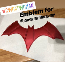 CW Batwoman chest emblem / logo (Ruby Rose)  - (can be made in various colors)