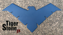 Young Justice Nightwing inspired chest emblem / logo for your cosplay costume - dark blue, metallic blue or blue etc.