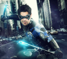 Robin / Nightwing inspired superhero face mask