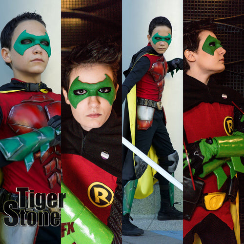 Damian Wayne Robin / Classic Tim Drake Robin inspired mask (can be cast in various colors) - also works great for a classic Nightwing etc