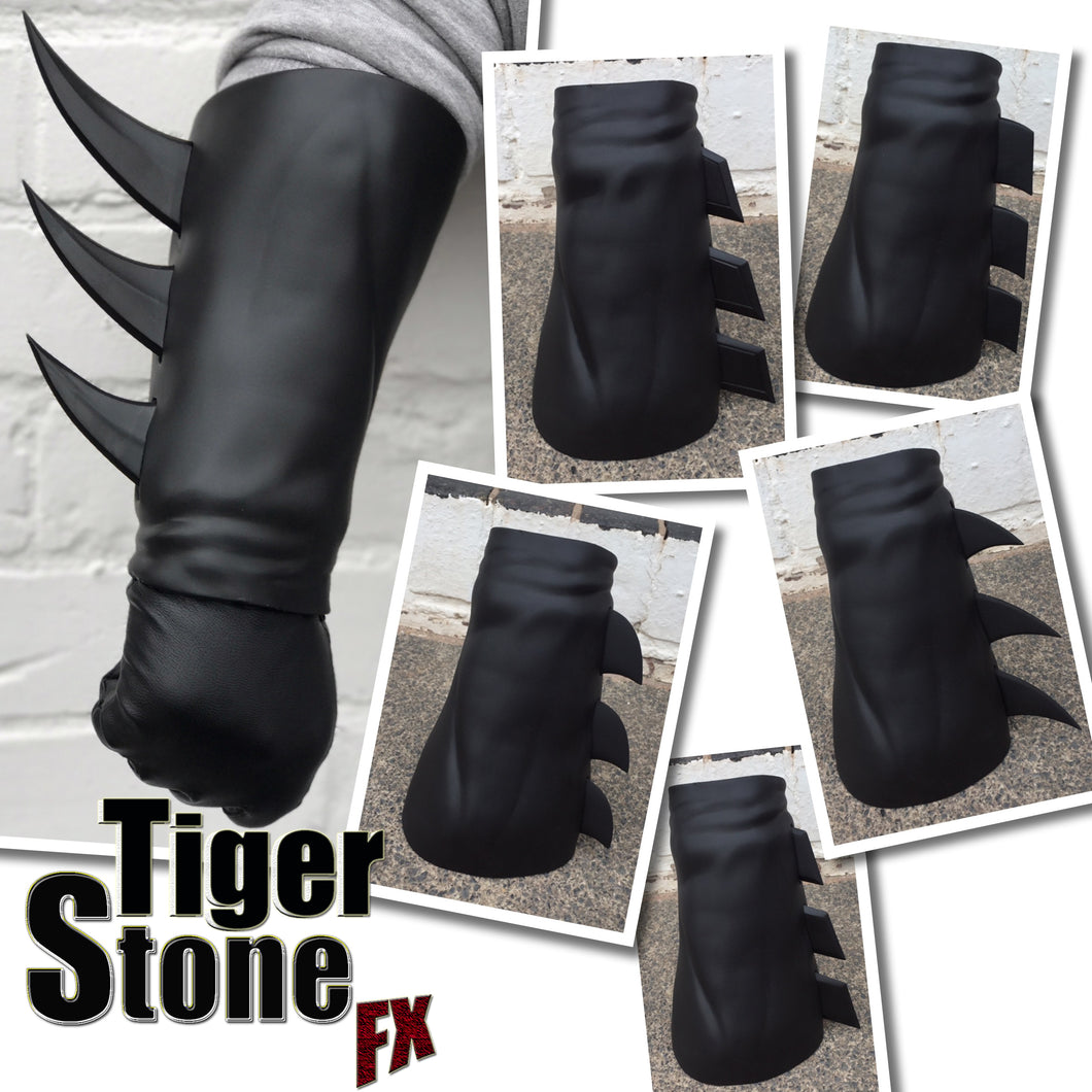 Super Hero gauntlets / bracers with INTERCHANGEABLE fin system (can be made in various colors)