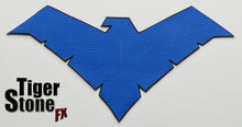 1 or 2-Tone BvS / Rebirth / Young Justice mashup Nightwing inspired chest emblem (metallic blue, blue or dark blue etc)