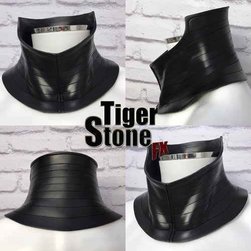 Cosplay neck piece - neck armor, neck seal for your cowl or helmet - #1