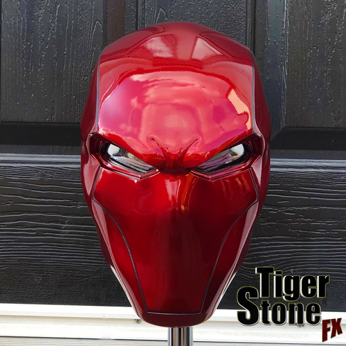 Red Hood helmet - Original design - Deep Metallic Red