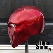 Red Hood helmet - custom (original) design - Deep Metallic Red