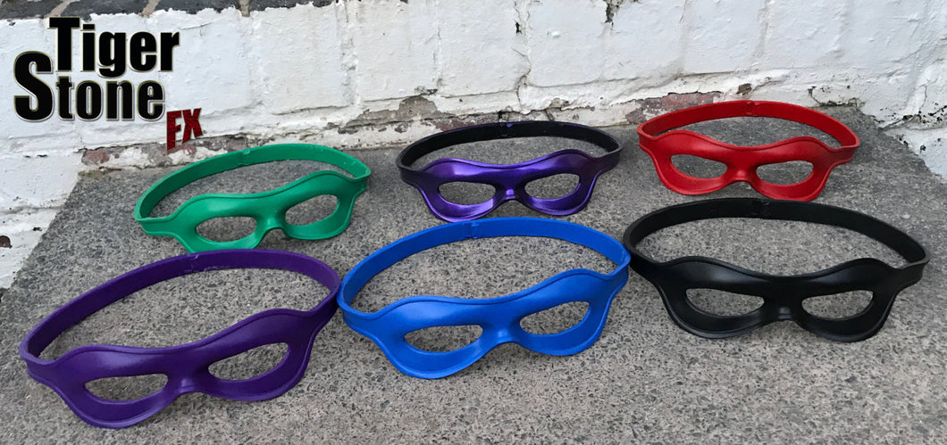 Super Hero / Villain face eye mask with strap - can be made in lots of colors - Great for Riddler Robin Arsenal etc