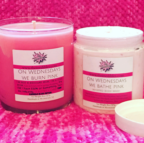 On Wednesdays we Buy Pink 2 Piece Gift Set (Candle and Soap)