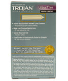 Trojan Ultra Thin Condoms Box Back