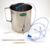 Two Liter Steel Enema Bucket Set