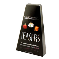 Teasers Ten Flavored Lubricant Packets