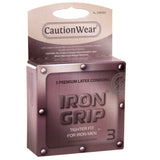 Iron Grip Tight Fit Condoms Three per Pack