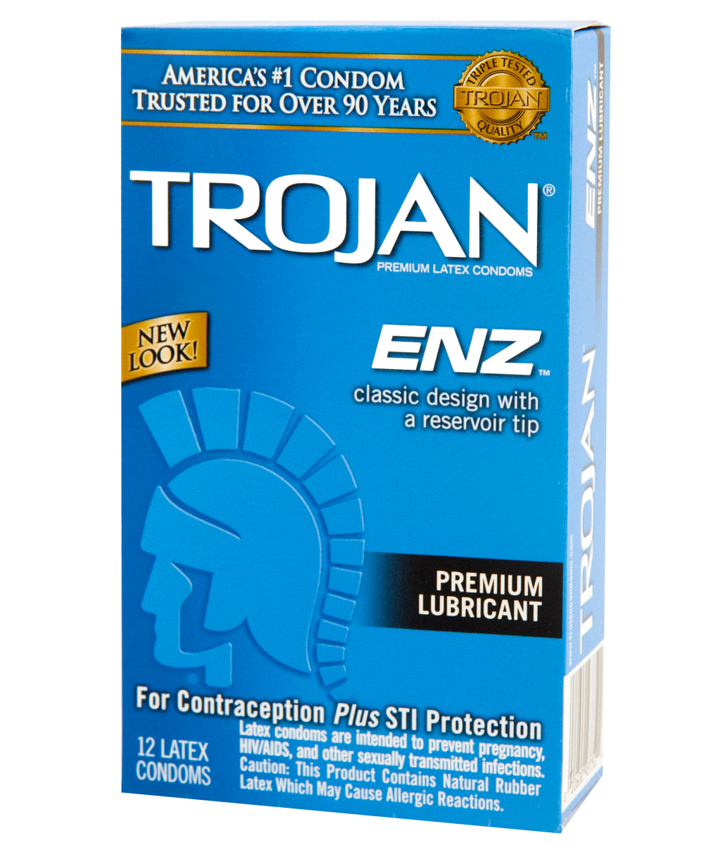 Trojan Enz Lubricated Condoms - 12 pack - The Gold Standard of Condoms