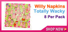 Wacky Willy Penis Napkins and Trivia Game