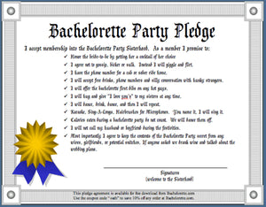 The Bachelorette Party Pledge - Free Download!