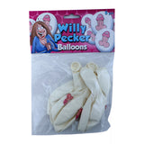 Smiling Cartoon Penis Balloons