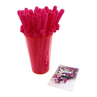 Penis Straws and Confetti Combo