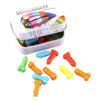 Rainbow Peckermints Penis Shaped Mints