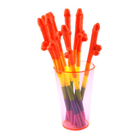 Modular Rainbow Penis Straws - Bachelorette.com Bachelorette Party Supplies