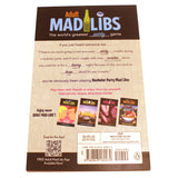 Bachelor Party Mad Libs - Rear Cover