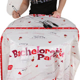 Bachelorette Party Activity Tablecloth on a Table