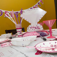 Bachelorette Party Letter Banner In Use