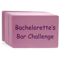 Bachelorette Bar Challenge Game Card Backs