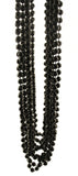 Black Beads - 12 Strands Dangling