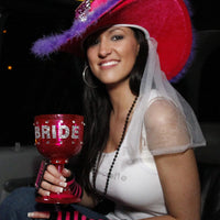 Blinged Out Bride Goblet Held by Bachelorette