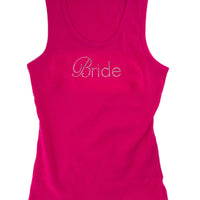 Bride Tank - Pink with Silver Gemstones