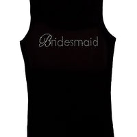 Bridesmaid Black Gemstone Tanktop