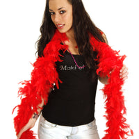 Feather Boa - Fiery Red - Worn by the Bachelorette