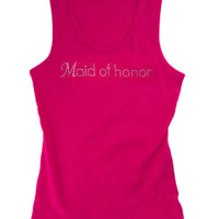 Maid of Honor Tank - Pink with Gemstones - One Size Fits Most