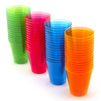 Neon Plastic Shot Cups - 2 oz. - Sixty per Pack