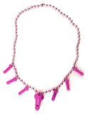 Pink Penis Whistle Beads - With Seven Penises