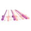 Pastel Penis Party Straws - Ten per Pack
