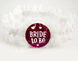 Glitter Bride to Be Garter - Pink and White
