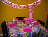 Bachelorette Party Letter Banner at a Party