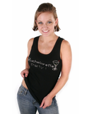 Bachelorette Party Tank - Black with Gemstones
