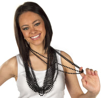 Black Beads - 12 Strands