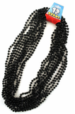 Black Beads - 12 Strands per Pack