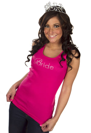 Bride Tank - Pink with Gemstones