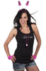 Bride Tank Top - Black with White Gemstones - Being Worn