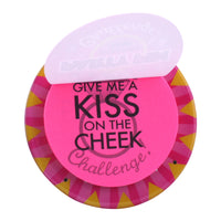 Bride-to-Be Party Pin Wearable Game - Give Me a Kiss on the Cheek!