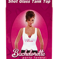 Bride's Shot Glass Tank Top - Rear of Box