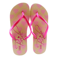 Bride Flip Flops - One Size Fits Most