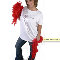 Feather Boa - Fiery Red - Looks Great!