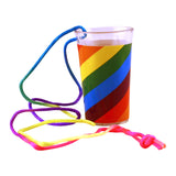 Light Up Rainbow Pecker Shot Glass Side View
