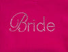 Bride Tank - Pink with Gemstones - Close Up